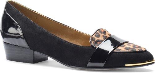 Black Suede-Leopard Hair Isola Barbra