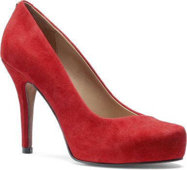 Fire Red Suede Isola Cagney