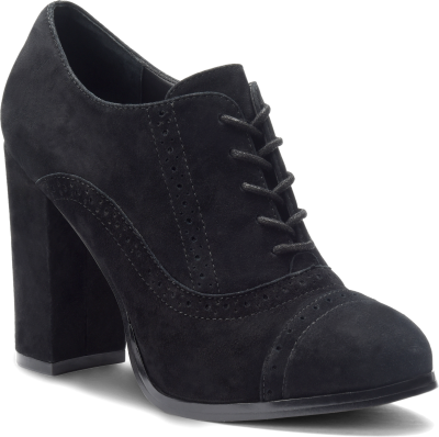 Diagonal view of Isola Holli in Black Suede