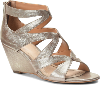 Diagonal view of Isola Filisha in Satin Gold