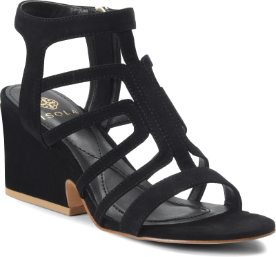 Diagonal view of Isola Lina in Black Suede