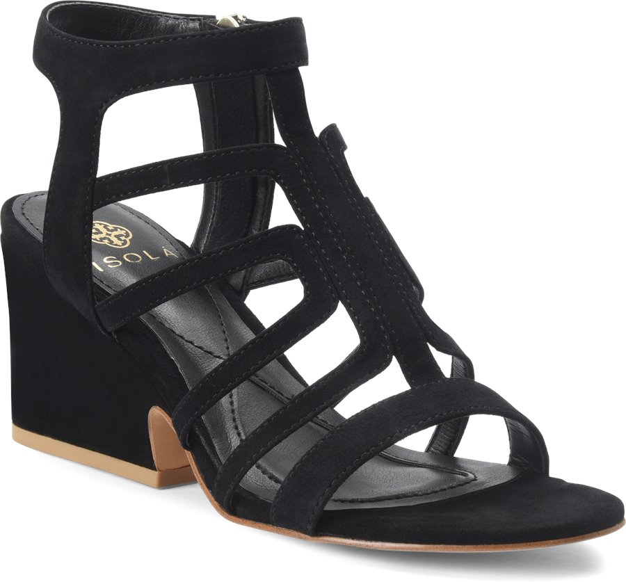Isola Lina : Black Suede - Womens