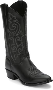 Black Justin Boot Buck
