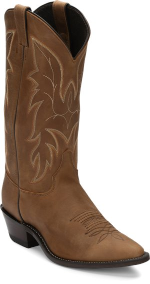Medium Brown Justin Boot Driscoll Bay Apache