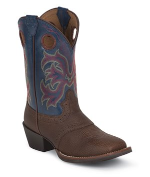 Medium Brown Justin Boot Lasso