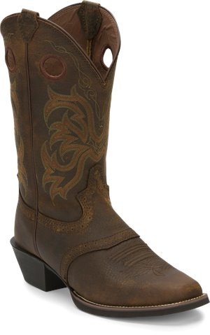 Dark Brown Justin Boot Milo