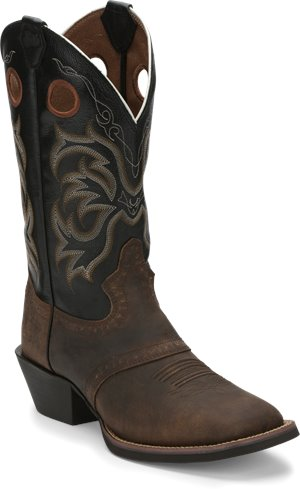 Distressed Brown Justin Boot Rolliker