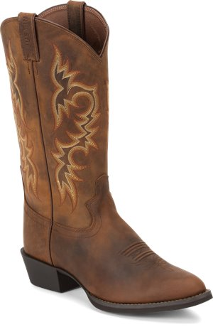 Medium Brown Justin Boot Huck Brown