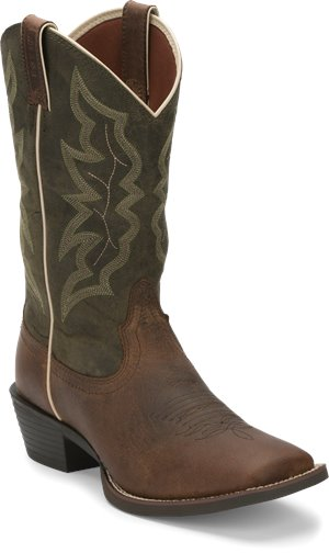 Dark Brown Justin Boot Wylie