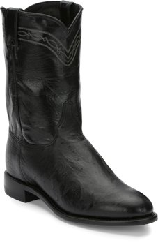 Black Smooth Justin Boot Brock