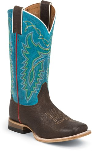 Blue Justin Boot Luckenbach