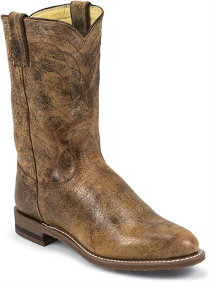 Distressed Brown Justin Boot MCMURDO