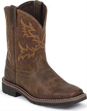 Medium Brown Justin Boot Cattleman