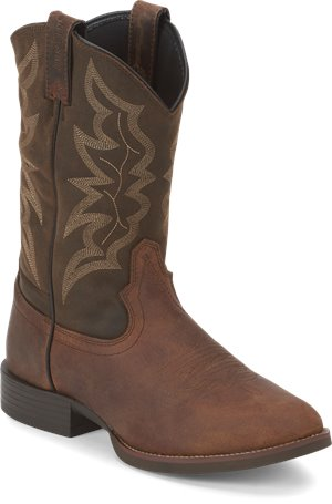 Distressed Brown Justin Boot Buster