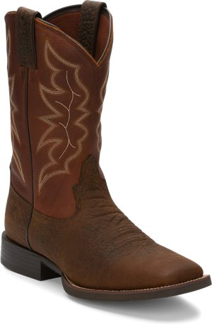 Pebble Brown Justin Boot Chet
