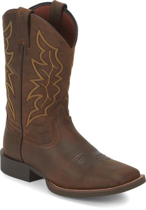 Dark Brown Justin Boot Chet