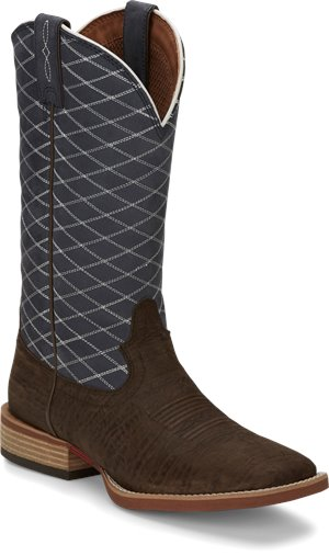 Chocolate Justin Boot Cattler