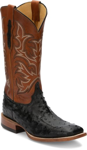 Black Full Quill Justin Boot Pascoe