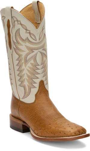 Tan Justin Boot Pascoe Antique Saddle Maddog Smooth Ost