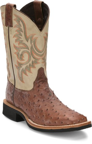Medium Brown Justin Boot Picktown Brown Full Quill