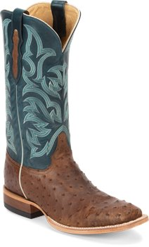 Dark Brown Justin Boot Pascoe Tan Full Quill