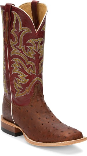 Medium Brown Justin Boot Pascoe Cognac Full Quill