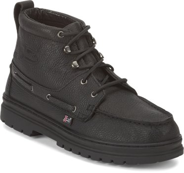 Black Justin Boot Chip