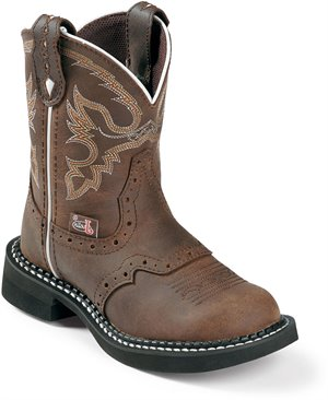 Medium Brown Justin Boot Nuri