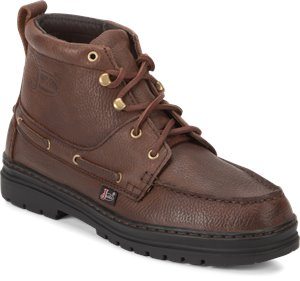 Medium Brown Justin Boot Chip