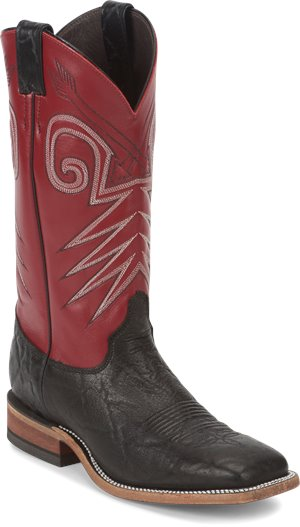 Red Justin Boot Stillwater