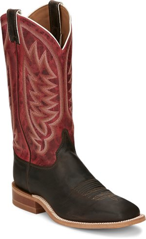 Brown Cherry Red Justin Boot Andrews