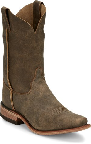 Distressed Brown Justin Boot Weatherford