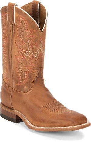Distressed Cognac Justin Boot Austin