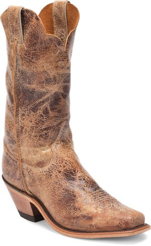Distressed Brown Justin Boot Wildwood