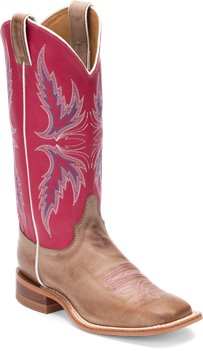 Pink Justin Boot Albany