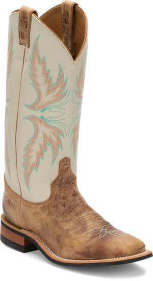 Distressed Brown Justin Boot Uvalde