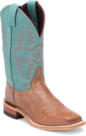Turquoise Justin Boot Kenedy