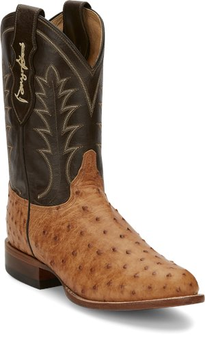 Saddle Tan Full Quill Justin Boot Strait
