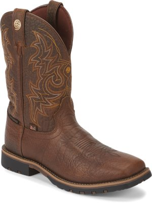 Brown Justin Boot Fireman