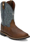 Justin Boot Fireman in Gunmetal Blue