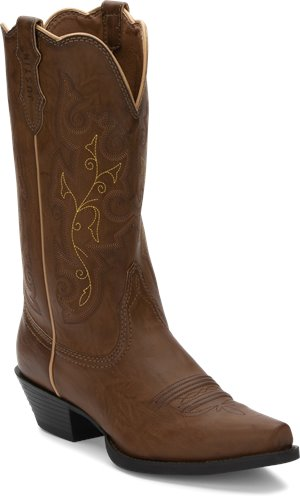 Medium Brown Justin Boot Tracy