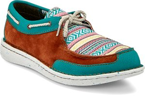 Multi Justin Boot Boatie Turquoise