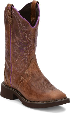 Tan Waxy Justin Boot Raya Distressed Tan