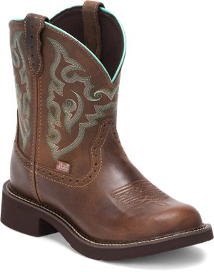 Medium Brown Justin Boot Gemma