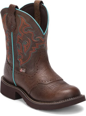 Medium Brown Justin Boot Gemma Tall