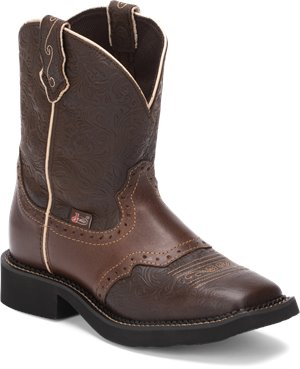 Medium Brown Justin Boot Mandra