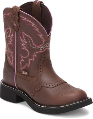 Medium Brown Justin Boot Gemma Aged Bark