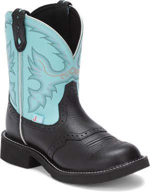 Light Blue Justin Boot Gemma