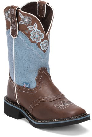 Medium Brown Justin Boot Starlina