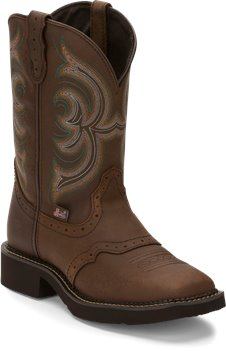 Medium Brown Justin Boot Inji